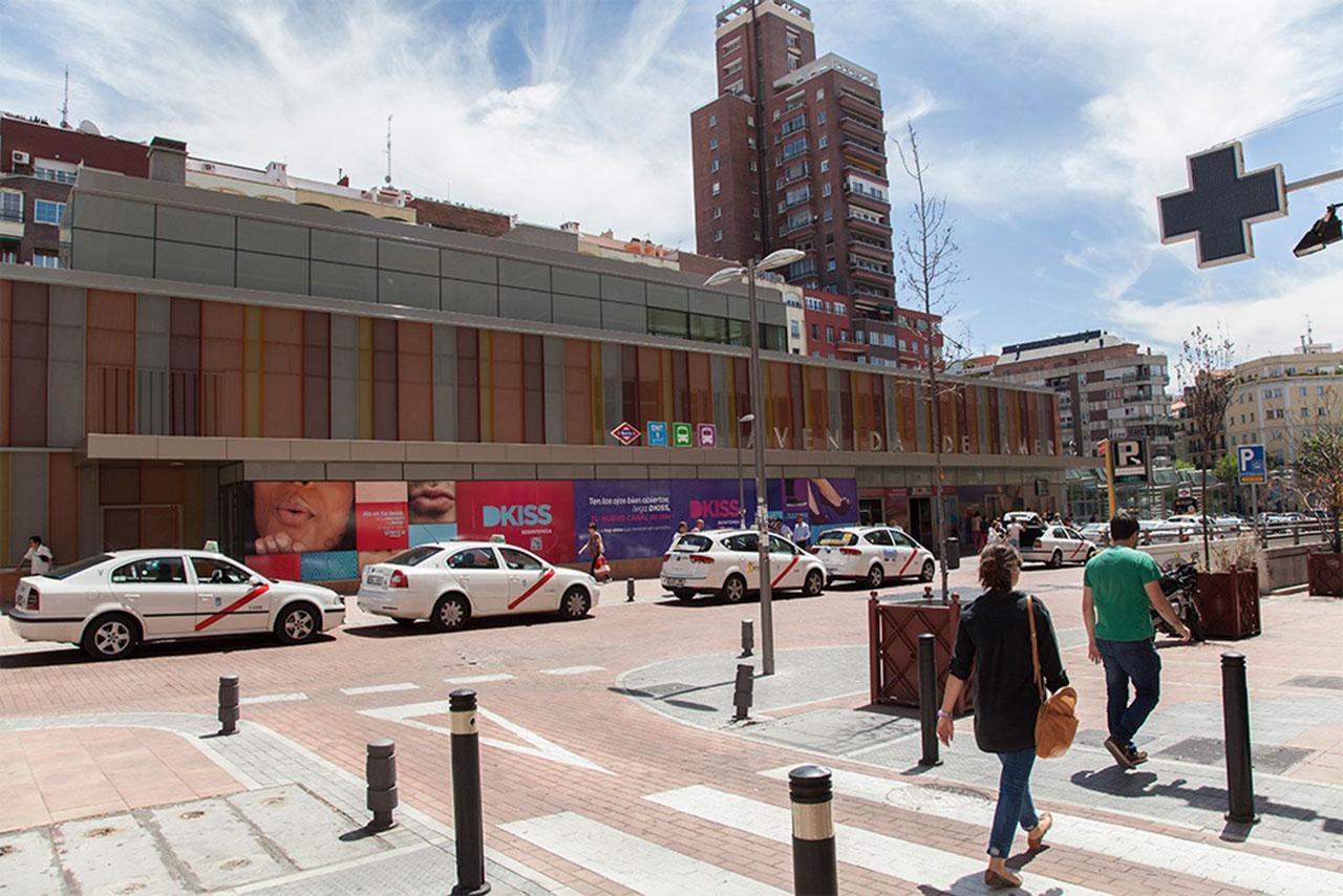 Publicidad alto impacto en intercambiador Avenida América