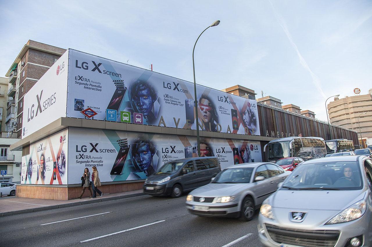 Publicidad gran formato en Madrid LG