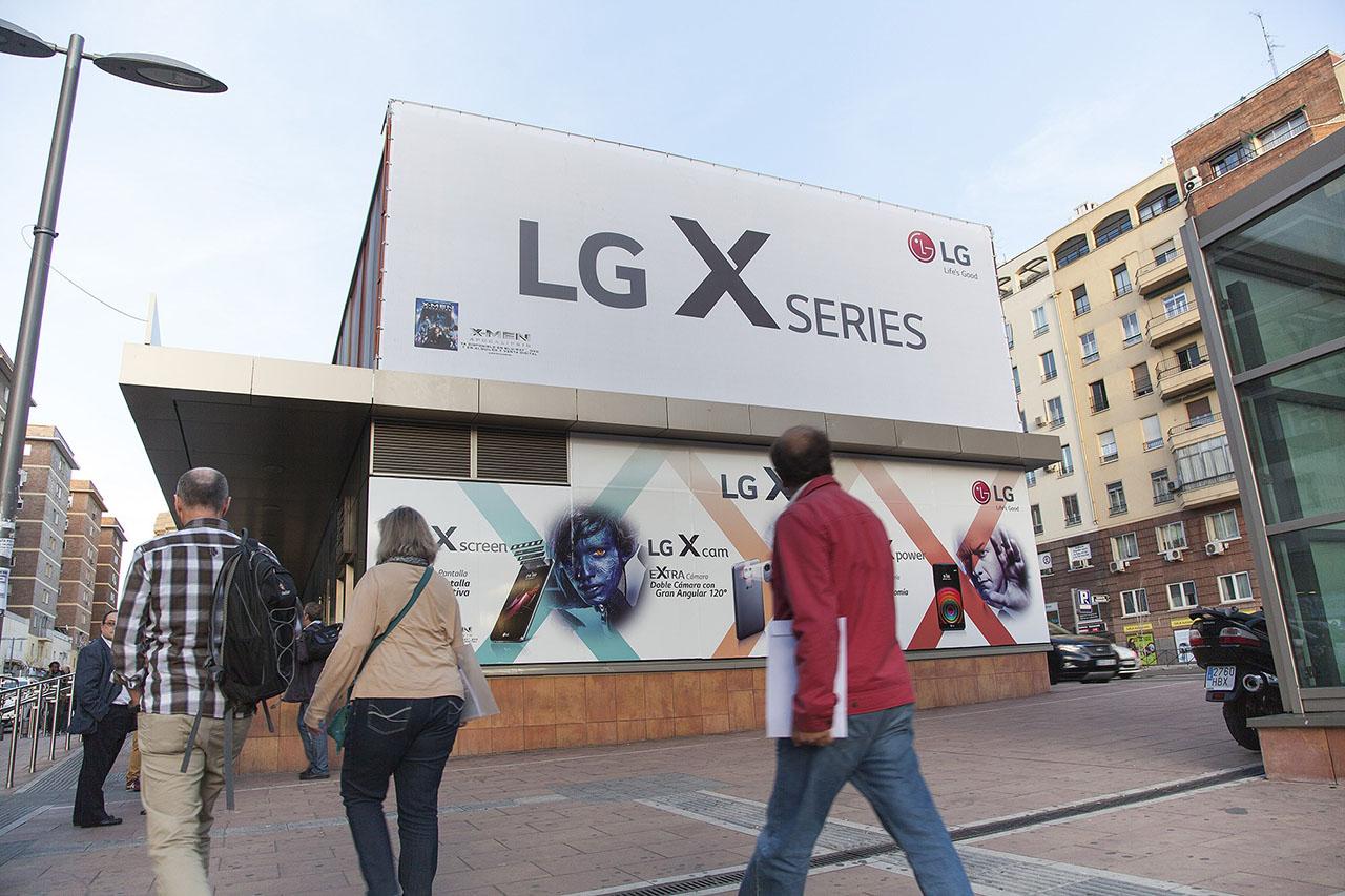 Marketing espectacular en Madrid LG