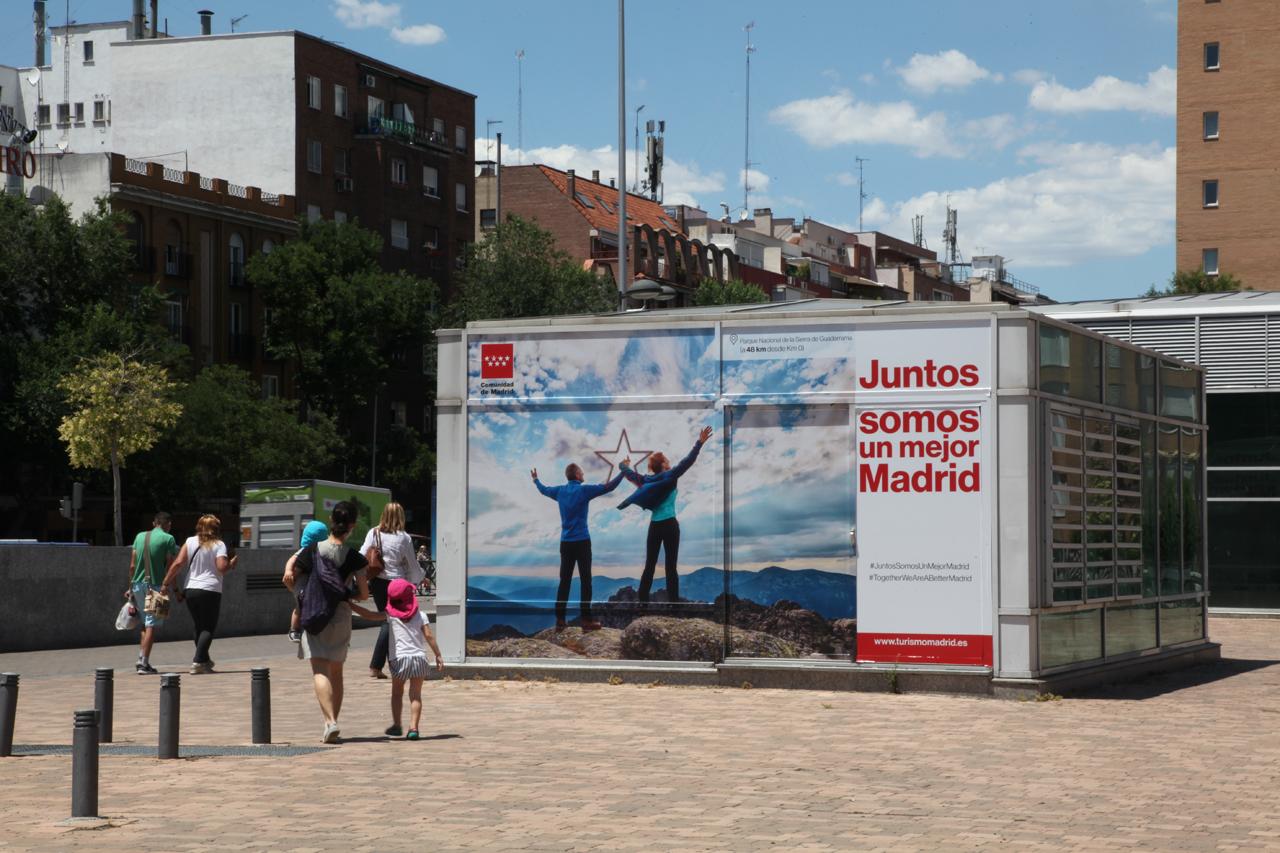 Publicidad grandes formatos para Turismo Comunidad de Madrid