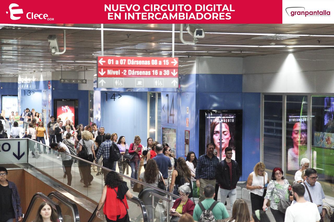 Mupis en circuito digial en intercambiadores de Madrid