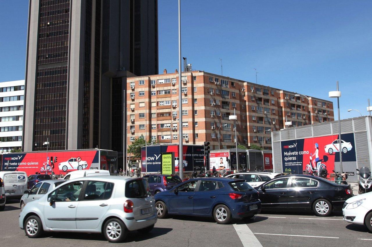 Alto tránsito y audiencia para publicidad en pleno centro de Madrid Free Now