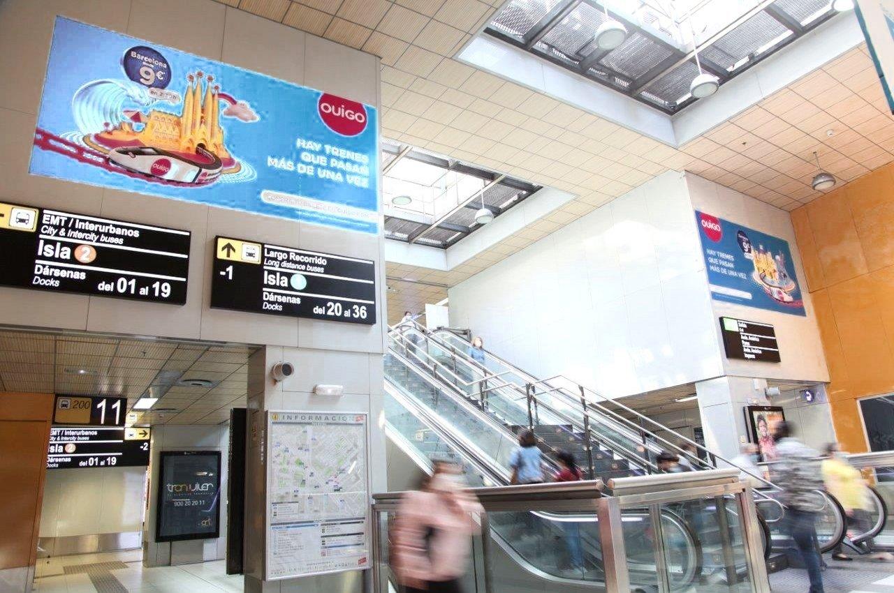 Marketing espectacular en estación Avenida de América para OUIGO