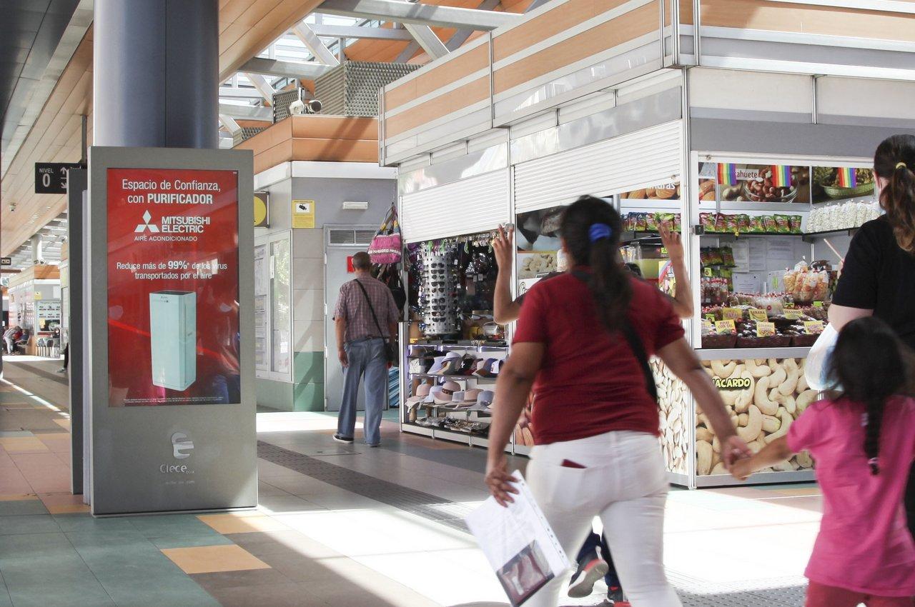 Mitsubishi Electric mupis digitales estación autobuses Plaza de Castilla
