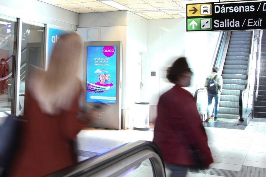 Mupis digitales para trenes de alta velocidad OUIGO